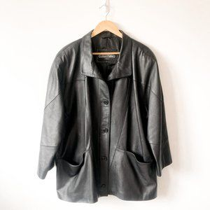 Boutique Of Leathers Black Button Down Jacket 18